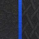 Иск. чёрная кожа/чёрная ткань/синий