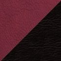 Иск. бордовая + черная кожа