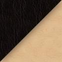 Иск. черная + бежевая кожа