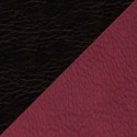 Иск. черно-бордовая кожа