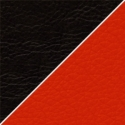 Иск. черно-красная кожа +100 р.