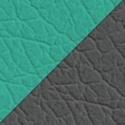 Иск. кожа металлик + зеленый