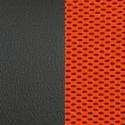 Иск. черная кожа/оранжевая сетка