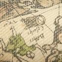 """Ткань """"Карта на бежевом"""""""