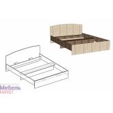 Кровать двуспальная 1400 Светлана (Ясень шимо)