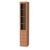 Шкаф для книг с ящиками узкий 205 Гарун