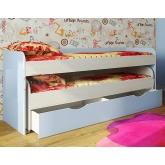 Двухъярусная низкая кровать с выдвижным ящиком Фанки Кидз-8