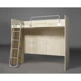 Кровать чердак ФС-15 Фанки Сити с бортиком и лестницей
