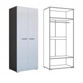 Шкаф Ненси 2-х дверный (венге/белый глянец)