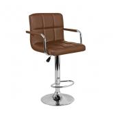 Барный стул Крюгер АРМ WX-2318C экокожа, коричневый