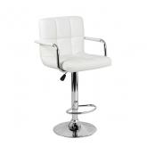 Барный стул Крюгер АРМ WX-2318C экокожа, белый