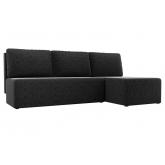 Угловой диван Поло (микровельвет черный)