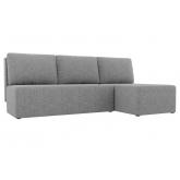 Угловой диван Поло (рогожка серый)