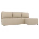 Угловой диван Поло (рогожка бежевый)