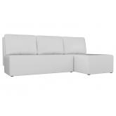 Угловой диван Поло (экокожа белый)