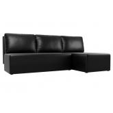 Угловой диван Поло (экокожа черный)