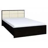 Кровать 1600 люкс Амели 201 с основанием металл (венге)