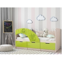 Детская кровать Юниор-3 (1,6) лайм
