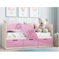 Детская кровать Юниор-3 (1,6) розовый