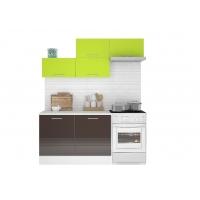 Кухня Люкс 1,8 МДФ глянец (шкафы горизонтальные)