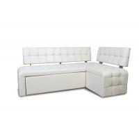 Кухонный диван Прага со спальным местом (кожзам Милк)
