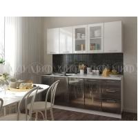 Кухонный гарнитур Микс черный/белый титан 2,0