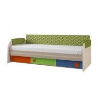 Кровать 12.1М + спинка СМ № 7.1 (эвкалипт classic ромб)+ 1.1 н-р подлокотников