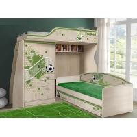 Кровать-чердак ФУТ-4/1 + низкая кровать ФУТ-13/7 Футбол Фанки Кидз