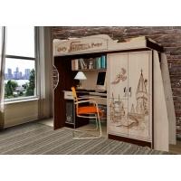 Кровать-чердак с встроенным столом Гарри Поттер арт. ГП-4
