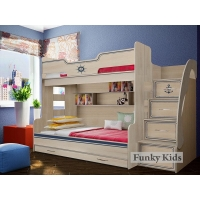 Двухъярусная кровать КП-21 Капитан Фанки Кидз
