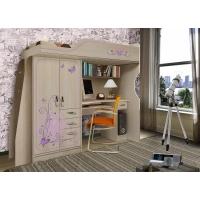 Кровать-чердак с встроенным столом Фанки Кидз Лилак 4