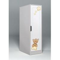 Низкий однодверный шкаф Мишки Тедди