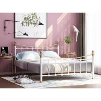 Металлическая кровать Эльда (белая с золотом)