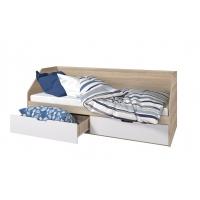 Кровать Анталия 80/2 ящика (сонома/белый софт)