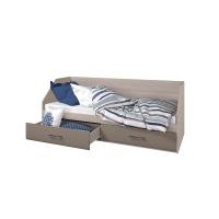 Кровать Ненси 80/2 ящика (ясень/капучино глянец)