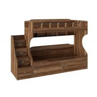 Кровать двухярусная с приставной лестницей Навигатор СМ-250.11.12