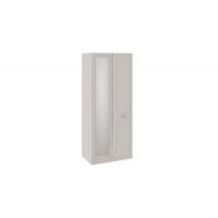 Шкаф для одежды с зеркалом правый с опорой Сабрина СМ-307.07.221-01R