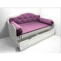Кровать с мягкой спинкой Синдерелла
