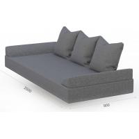 Матрас Валенсия с основанием ЛДСП и подушками (Savana grey)