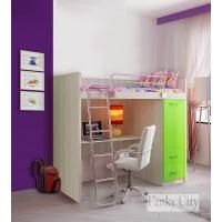 Кровать чердак Фанки Сити (комплект с рабочей зоной)