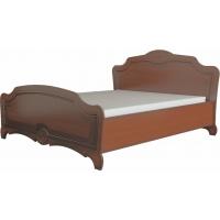 Кровать Лотос Лакированный 160 с основанием