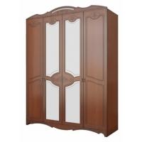 Шкаф распашной 4-х дверный Лотос Лакированный
