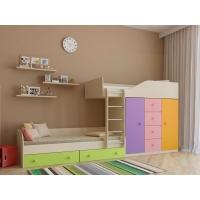 Двухъярусная кровать Астра 6 с разноцветными фасадами