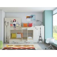 Детская двухъярусная кровать Лео Париж