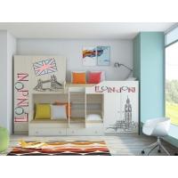 Детская двухъярусная кровать Лео Лондон