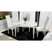 Стол обеденный Портофино СМ(ТД)-105.02.11(3) белый глянец