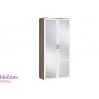 Шкаф 2х ств. комбинированный с зеркалом (440) Афина