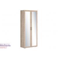 Шкаф 2х створчатый комбинированный зеркальный (440) Бруно