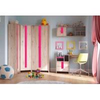 Комплект мебели для детской №1 Скаут (фуксия)