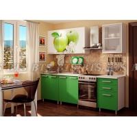 Кухня с фотопечатью МДФ Яблоко 1,8